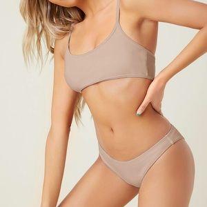 SHEIN    Adjustable Strap Beige Bikini